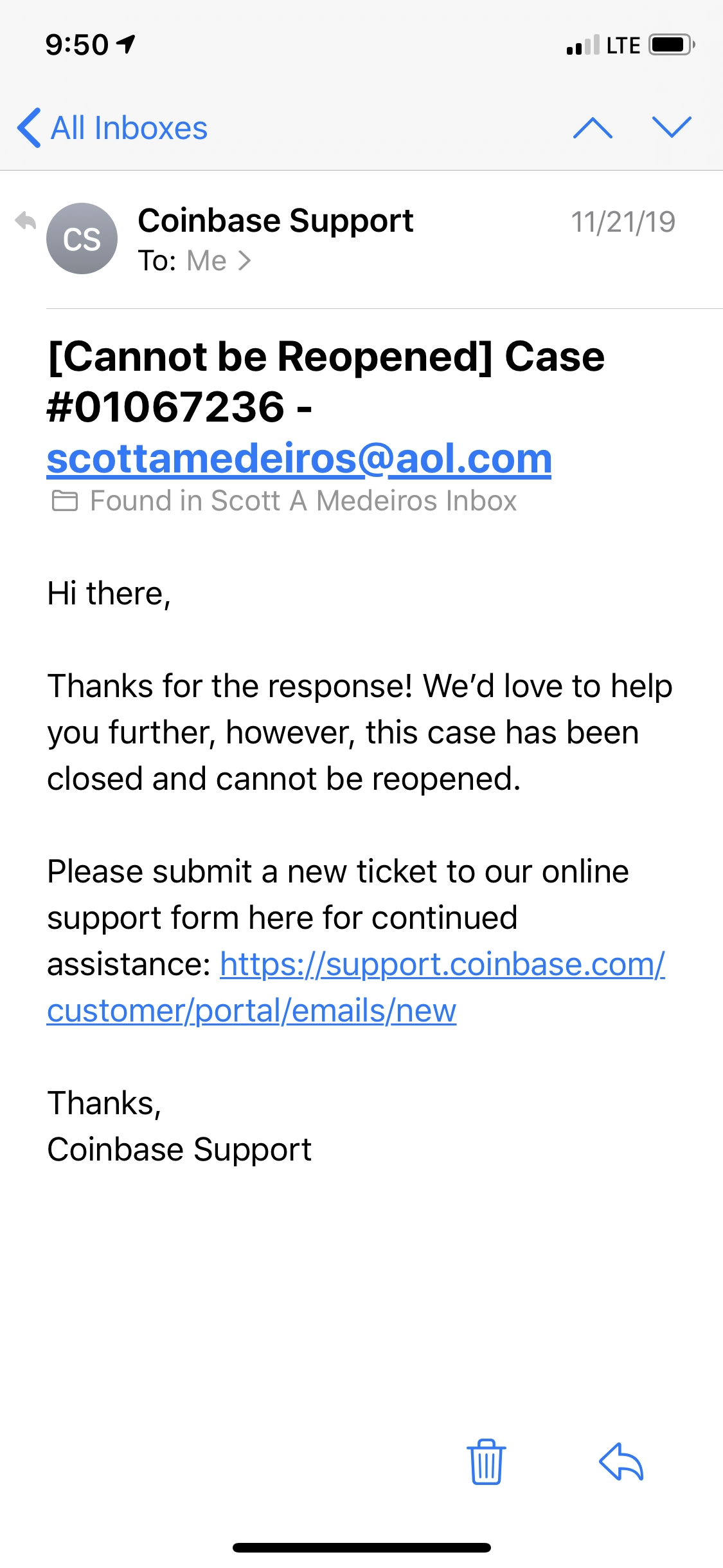 support coinbase com