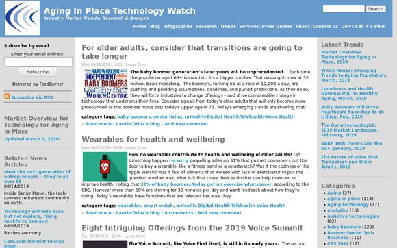 Aging in Place Technology Watch