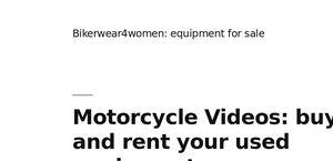 Bikerwear4women.com