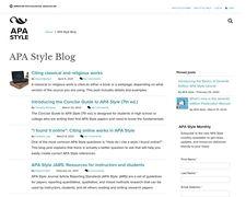 APA Style Blog
