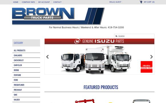Brown Truck Parts