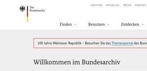 Bundesarchiv Internet