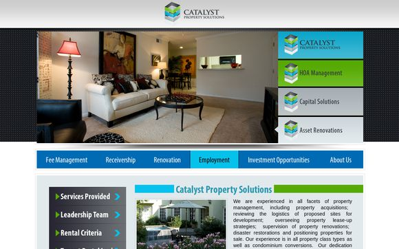 Catalyst Property Solutions
