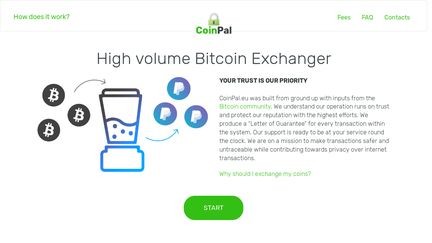 CoinPal.eu — The Fast, Secure And Reliable High Volume Bitcoin Exchanger!