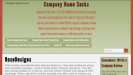 Companynamesucks.com