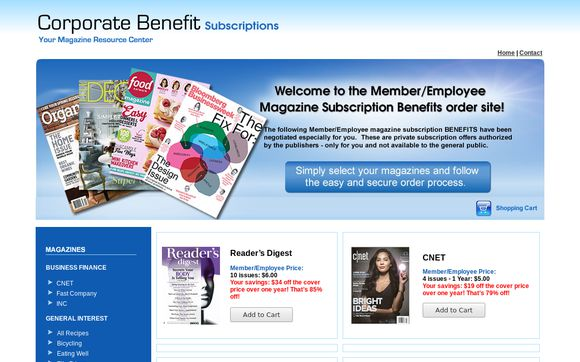 Corporate Benefit Subscriptions