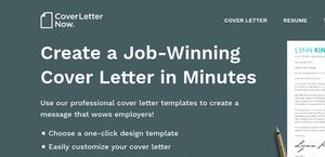 cover letter now