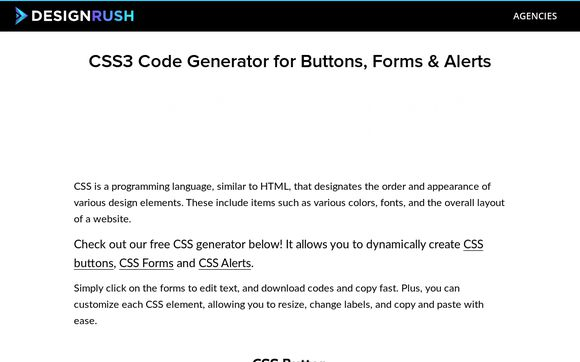 CSS3 Code Generator For Buttons, Forms & Alerts