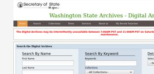 Washington State Archives, Digital Archives