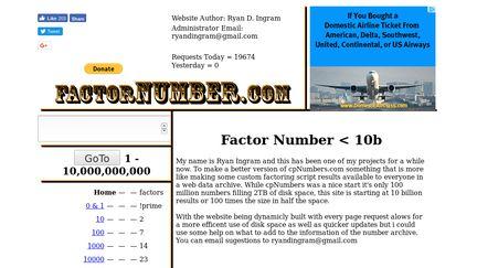 FactorNumber