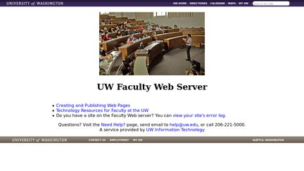 Faculty.washington.edu