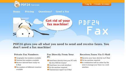 PDF24 Fax Service