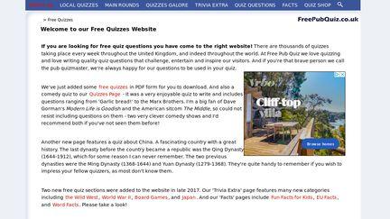 FreePubQuiz.co.uk