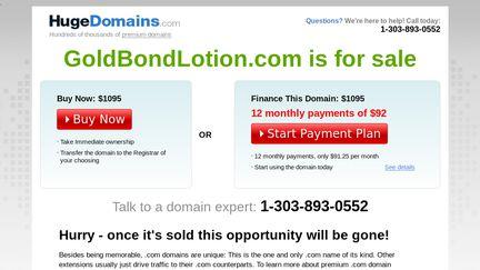 Goldbondlotion.com