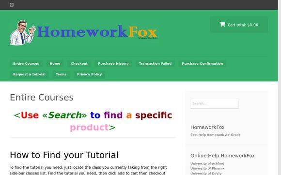HomeworkFox
