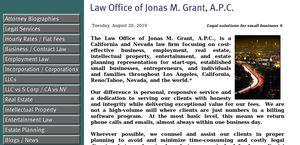 Law Office of Jonas M. Grant