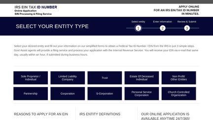 IRS EIN TAX ID