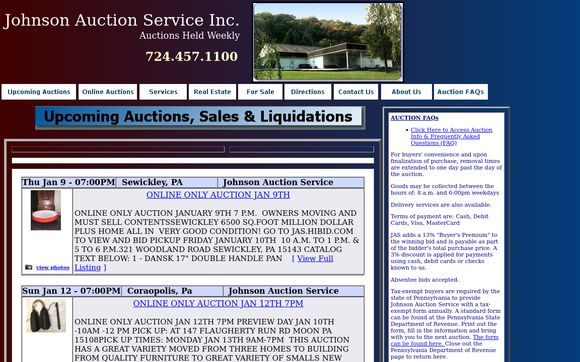 JohnsonAuctionService