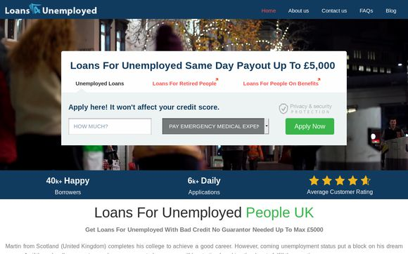 Loans4unemployed.co.uk