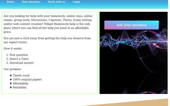 Ndigel Homework Answers