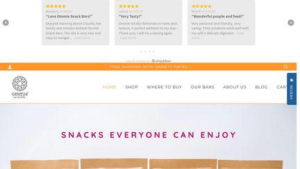 ommiesnacks.com