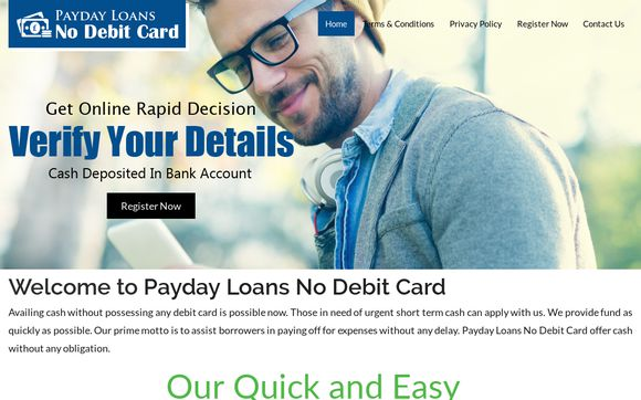 Payday Loans No Debit Card