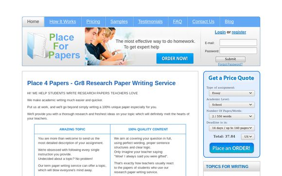 Place For Papers