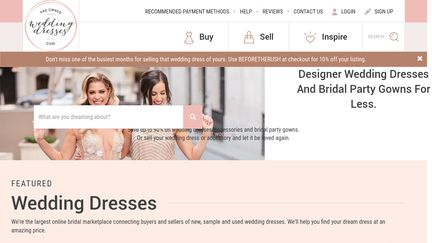 Pre Owned Wedding Dresses.com
