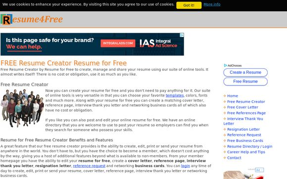 Resume4free