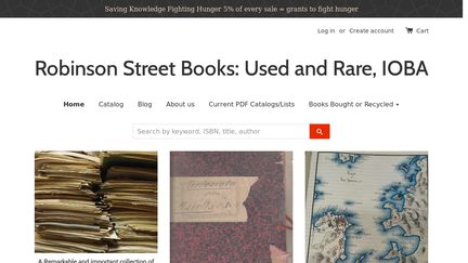 Robinson Street Books:  Used and Rare, IOBA