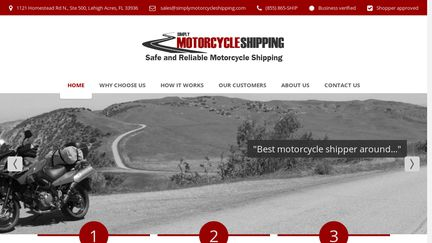 Simplymotorcycleshipping.com