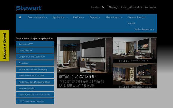 Projector Screens by Stewart Filmscreen