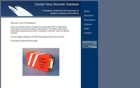 Cockpit Voice Recorder Database