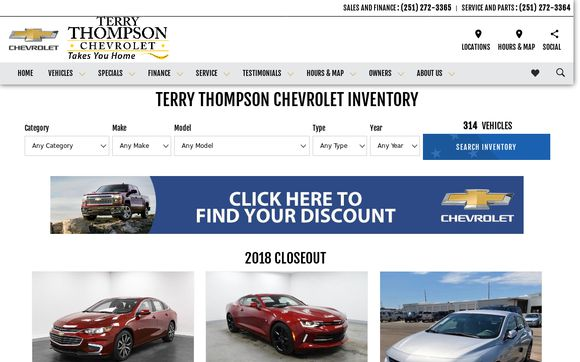 Terrythompsonchevrolet.net