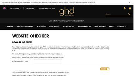 GHD Website Checker