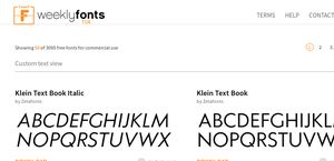 Weeklyfonts.com