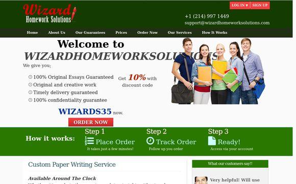 Wizard Homework Solutions