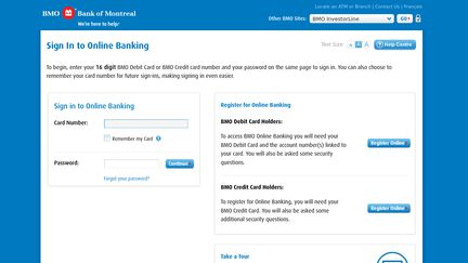 Bank of Montreal Online Banking