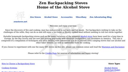 Zen Backpacking Stoves